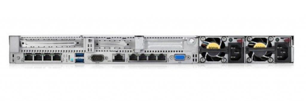 dl360 g9 back 1024x341 - شاسی سرور اچ پی مدل HPE DL360 G9